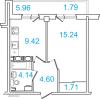 Планировка однокомнатной квартиры